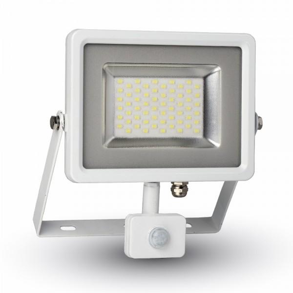 30W LED Прожектор Сензор SMD Бяло Тяло